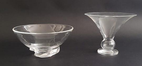 438-1865 Steuben Bowl and Vase A