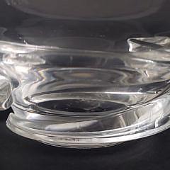 Signed Steuben Clear Crystal Bowl and Trumpet Vase