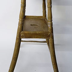 American Paint Decorated Two Tier Side Table, 19th Century