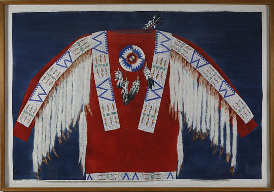 45-4935 Watercolor Indian Chiefs Ceremonial Jacket A_MG_0804
