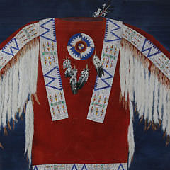 "Theodore Villa Mixed Media ""Native American Ceremonial Dress Shirt"""