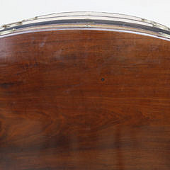 New England Federal Tiger Maple and Mahogany Bow Front Chest of Drawers, circa 1800