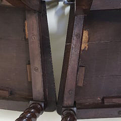 Pair of French Carved Oak Hall Chairs, 19th Century