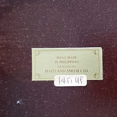 Maitland Smith Bamboo Style Side Table