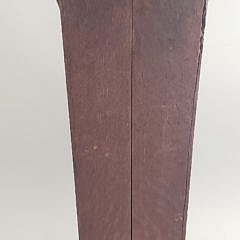 19th Century English Oak Shell Inlaid Pipe Box