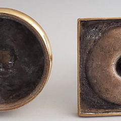 Two 18th Century English Brass Candlesticks