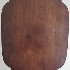 New England Tiger Maple and Cherry Tilt Top Candlestand, 19th Century