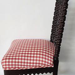 English Bobbin Turned Gothic Side Chair, 19th Century