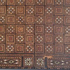 Vintage Damascus Inlaid Folding Game Box