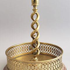 Antique English Barley Twist Brass Chamberstick