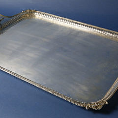 Marshall & Snelgrove, London, English Electroplate Serving Tray, circa 1890