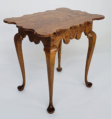 9-4934 Tiger Maple Pringer Table A