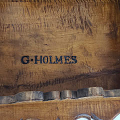 G. Holmes Hand Crafted Tiger Maple Porringer Top Table