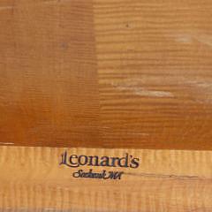 Leonard's Tiger Maple Sheraton Style Cocktail Table