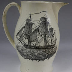 """""""Susan's Farewell"""" Liverpool Pitcher, England 19th Century"""