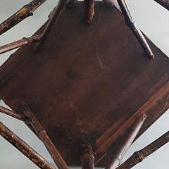 Antique Bamboo Photographer's Corner Chair