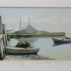 Framed Nantucket Postcard, circa 1920