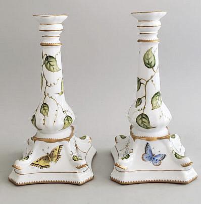 57-2674 Porcelain Candlesticks A