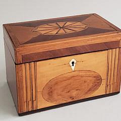 441-3771 Satinwood Tea Caddy A