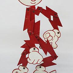 Reddy Kilowatt Folk Art Mechanical Advertising Figure