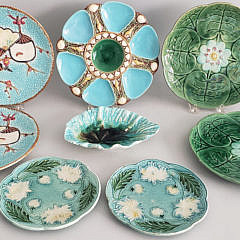 111-4795 Majolica Plates A