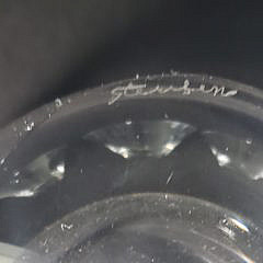 Four Signed Steuben Clear Crystal Finger Bowls