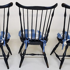 Set of Eight Reproduction Nantucket Fan Back Windsor Dining Chairs