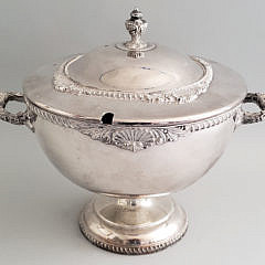 King George Silver Plated Covered Soup Tureen