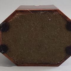 English George III Octagonal Inlaid Tea Caddy, 18th Century