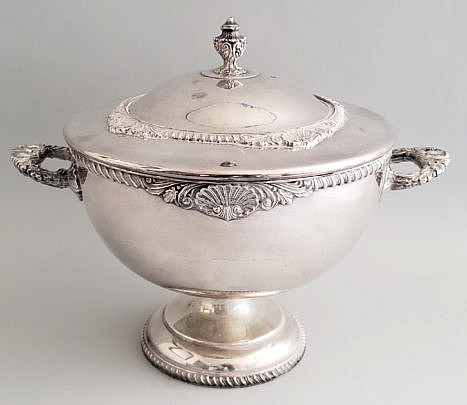 70-2674 Silver Plate Tureen A