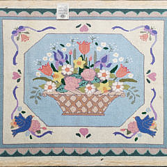 Claire Murray Nantucket Flower Basket Hooked Rug