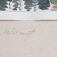 "Doris and Richard Beer Nantucket Watercolor on Paper, ""The Doris at Dock, Old South Wharf"""