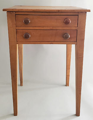 2-4421 Pine Two Drawer Stand A