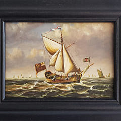 7-4934 Miniature Maritime Painting A