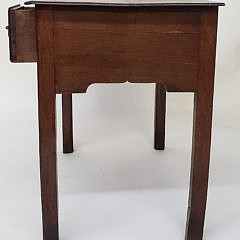 English Oak Three Drawer Dressing Table, 19th Century