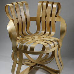 "Frank Gehry for Knoll Signed Apple Basket ""Cross Check"" Armchair, circa 1999"