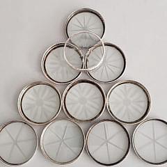 51-4820 Sterling Silver Coasters A