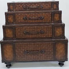 2423-955 Leather Suitcase Dresser A