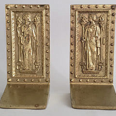 Virginia Metalcrafters Brass Figural Bookends