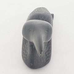 Samwillie Iqaluq Carved Soapstone Loon Sculpture