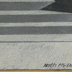 """Keith McDaniel Oil on Canvas """"Arena"""" Boston, 1975"""