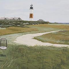 """John Austin Tempera on Artist Board """"5th Tee, Sankaty Golf Course"""""""