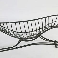 "Vladimir Kagan Metal Garden ""Capricorn"" Chaise Lounge, circa 1950-1959"