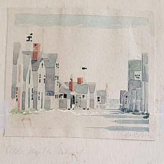 Four Doris and Richard Beer Nantucket Watercolors