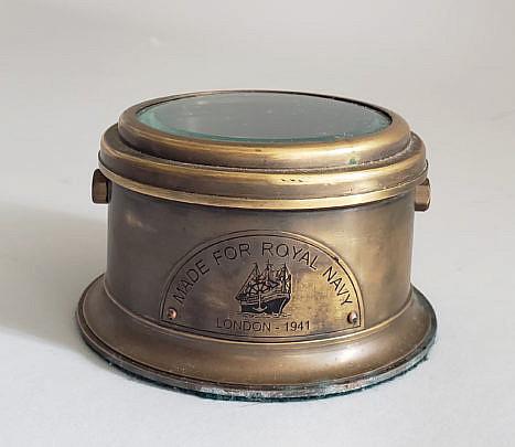 100-2674 Brass Naval Compass London A