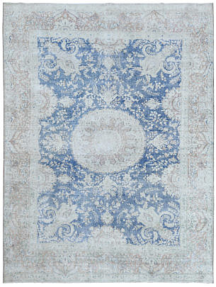 101-4700 Persian Kerman Medallion Carpet A 001