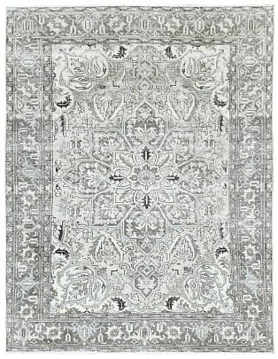 104-4700 Grey Persian Heriz A 001