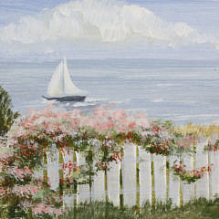 "Kathleen Potter Kelliher Acrylic on Wood ""Summer Afternoon"""