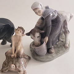 Collection of Six Royal Doulton Porcelain Animals and Figurines