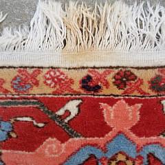 Vintage Hand Knotted Heriz Oriental Carpet